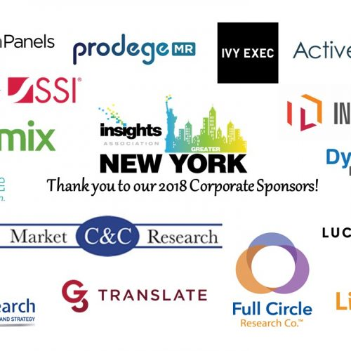 Dynamic Fieldwork sponsors the New York Chapter of the Insights Association for 2018
