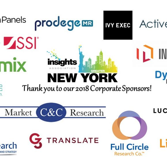 Dynamic Fieldwork sponsors Insights Association NY Chapter 2018