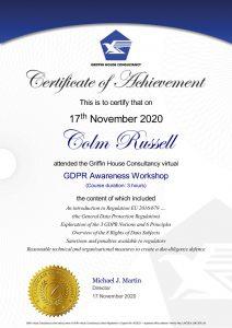 GDPR Certificate